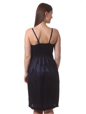 Set Of 3 Being Fab Satin Lycra Solid Nightwear -fbl43