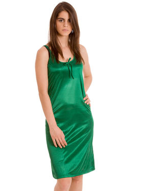 Set Of 2 Being Fab Satin Lycra Solid Nightwear -fbl07