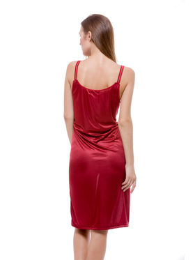 Set Of 2 Being Fab Satin Lycra Solid Nightwear -fbl08