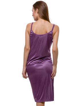 Set Of 2 Being Fab Satin Lycra Solid Nightwear -fbl10