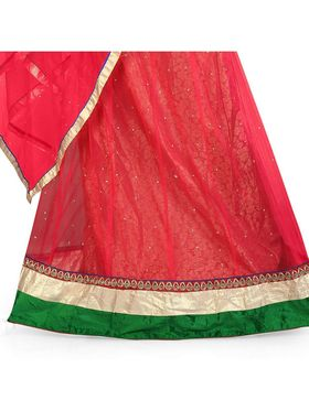 Styles Closet Designer Net & Silk Semi Stitched Lehenga Choli -Bnd-Hl4