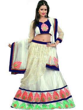 Styles Closet Designer Rasla Net & Net Semi Stitched Lehenga Choli -Bnd-Pc5008