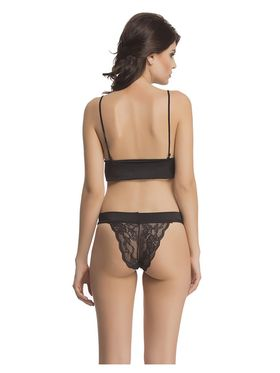 Clovia Polyamide with Spandex Lace Embroidered Bra & Panty Set -BP0483P13