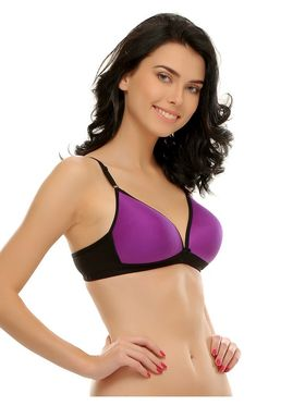 Clovia Cotton Blend Solid Bra -BR0351P15