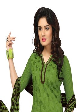 Khushali Fashion Chanderi Embroidered Unstitched Dress Material -BRCRN1001