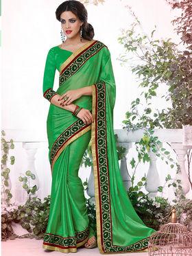 Bahubali Satin Chiffon Embroidered Saree - GA.50406