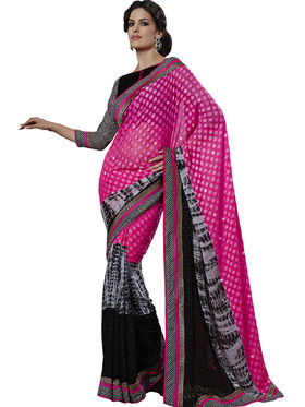 Combo of 3 Bahubali Embroidered Saree - CMB005