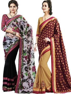 Combo of 2 Bahubali Embroidered Saree - CMB008