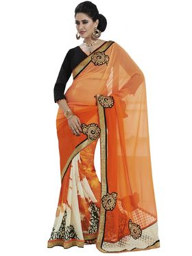 Stunning Pack of 2 Heavy Embroidered Sarees - By Bahubali