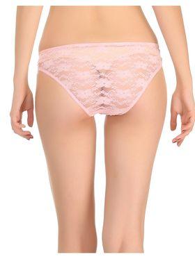 Pack Of 4 Clovia Nylon  & Satin Rich  Cotton Lycra Solid Bra & Panty -Comnaap03