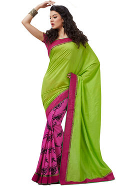 Kashish Pack of 5 Bollywood Inspired Half & Half Designer Sarees (5BDS1)