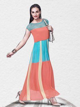 Viva N Diva Pure Viscose Georgette Printed Kurtis -Chisel-28