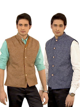 Classic Set of 2 Nehru Jackets for Men