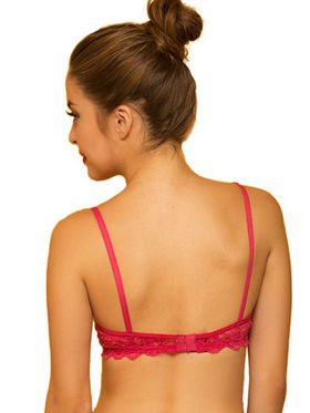Clovia Blended Printed Bra - Hot Pink - BR0224P14