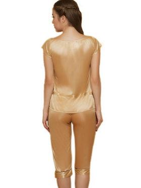 Set of 3 Clovia Blended Plain Nightwear - Golden