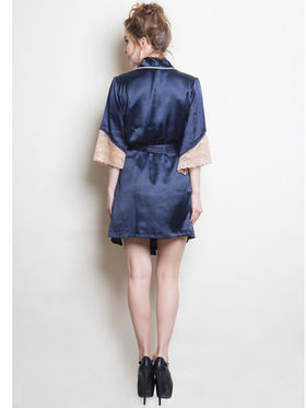 Set of 2 Clovia Blended Plain Nightwear - Navy