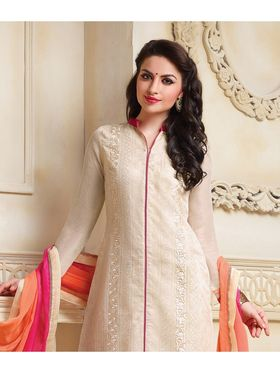 Viva N Diva Net Embroidered Unstitched Suit Color-Blossom-03-1055