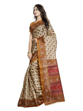 Pack of 2 Printed Taffeta Saree-swb11
