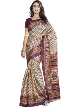 Pack of 5 Printed Taffeta Saree-swb23