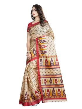 Pack of 2 Printed Taffeta Saree-swb07