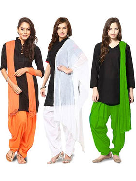Arisha Combo of 3 Salwar and Dupatta Set - ARS03