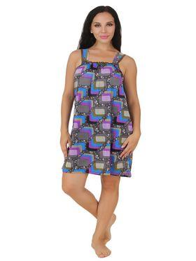 Fasense Shinker Cotton Printed Nightwear Short Nighty -DP149A1