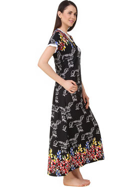 Fasense Printed Sinker Cotton Long Nighty -Dp200A4