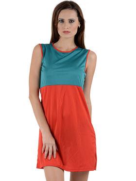 Arisha Viscose Solid Dress DRS1007_Trq-Rd