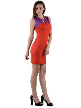 Arisha Viscose Solid Dress DRS1008_Rd-Prpl