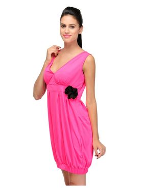 Arisha Viscose Solid Dress DRS1028_Pnk