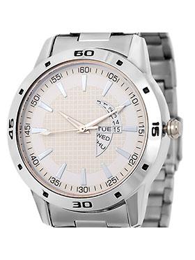 Dezine Wrist Watch for Men - Cream