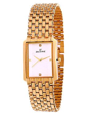Dezine Wrist Watch for Men - White_DZ-GSQ001-SLV-GLD