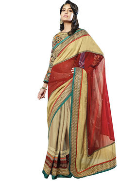 Zoom Fabrics Georgette Embroidered Saree -E705