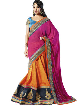 Zoom Fabrics Georgette Embroidered Saree -E712