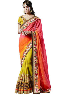 Zoom Fabrics Georgette Embroidered Saree -E713