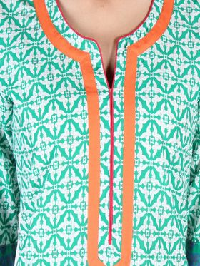 Branded Cotton Printed Kurtis -Ewsk0715-1418