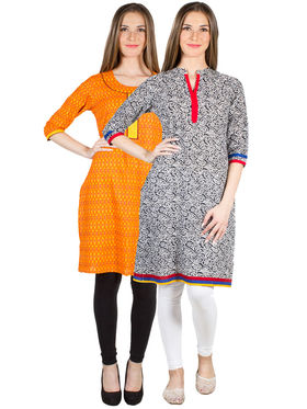Pack of 2 Branded Cotton Printed Kurti -ewsk23