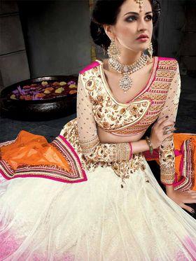 Viva N Diva Pure Net Embroidered Lehenga -Ehsaas-601