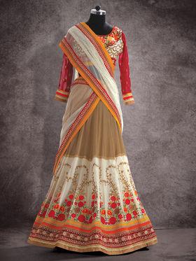 Viva N Diva Pure Georgette Floral Embroidery Lehenga -Ehsaas-604