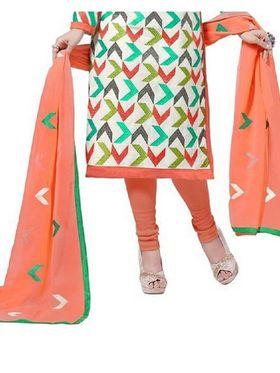 Fabfiza Embroidered Cotton Semi Stitched Salwar Suit_FB-5093