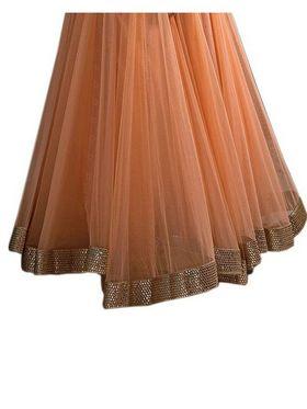 Fabfiza Embroidered Net Semi Stitched Salwar Suit_FB-5098