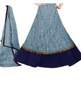 Fabfiza Embroidered Net Semi Stitched Salwar Suit_FB-6268