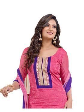Fabfiza Embroidered Cotton Semi Stitched Salwar Suit_FB-6352