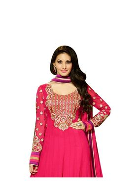 Fabfiza Embroidered Georgette Semi Stitched Anarkali Suit _FB-6578