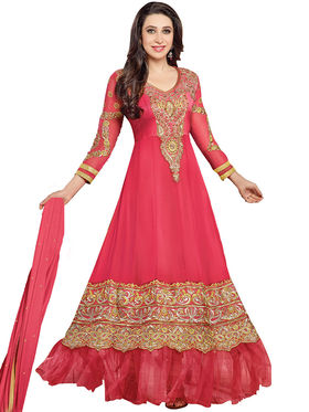 Fabfiza Embroidered Georgette Semi Stitched Anarkali Suit_FBEL4-36000