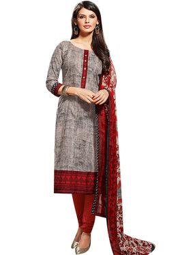 Fabfiza Printed Cotton Semi Stitched Straight Suit_FBVD-009