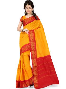 Nanda Silk Mills Cotton Printed Saree -Femina4038