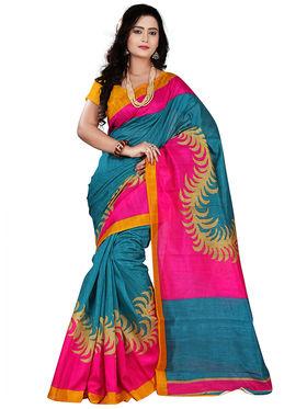Florence Bhagalpuri silk Printed  Sarees FL-10990