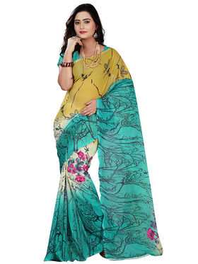 Florence Faux Georgette  Printed  Sarees FL-11001