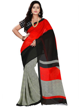 Florence Faux Georgette  Printed  Sarees FL-11005